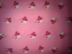 Glückspilz pink / 15,- pro lfm. /100% Baumwolle / 140cm breit