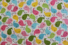 Funny birds (Michel Miller fabrics ) / € 18,- pro lfm./ 100% Organic Cotton / 114 cm breit