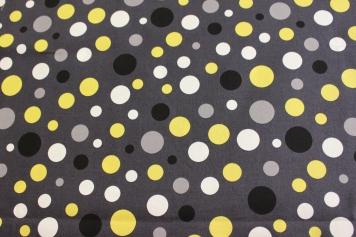 Polka dots buntgrau (Robert Kaufman fabrics ) / € 16,- pro lfm./ 100% Organic Cotton / 114 cm breit