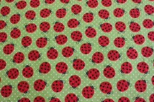 Marienkäfer / € 15,- pro lfm./ 100% Organic Cotton / 114 cm breit