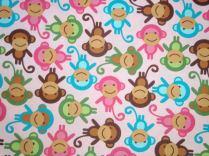 Affen rosa (Michel Miller fabrics ) / € 18,- pro lfm./ 100% Organic Cotton / 114 cm breit