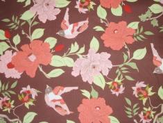 Flowers´n´birds / € 24,- pro lfm./ 100% Organic Cotton / 114 cm breit