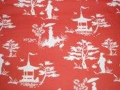 Asia rot / € 24,- pro lfm./ 100% Organic Cotton / 114 cm breit