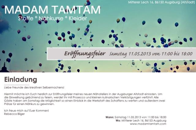 Einladung Eröffnungsfeier