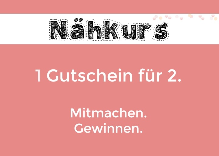 Gewinne 1 Nähkurs-Gutschein für 2Personen