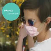 Modell 4 La vie en rose Mund-Nase-Maske