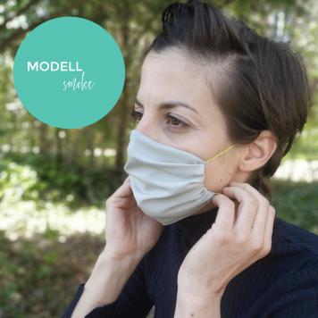 Mund-Nase-Maske aus Stoff. Modell 6 Smoke