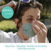 Modell 2 Sternchen Mund-Nase-Maske